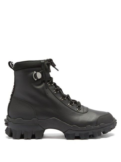 Moncler Black Mf Helis Trek-sole Leather Boots/Booties Size EU 38.5 (Approx. US 8.5) Regular (M, B) Moncler Black Mf Helis Trek-sole Leather Boots/Booties Size EU 38.5 (Approx. US 8.5) Regular (M, B) Image 1
