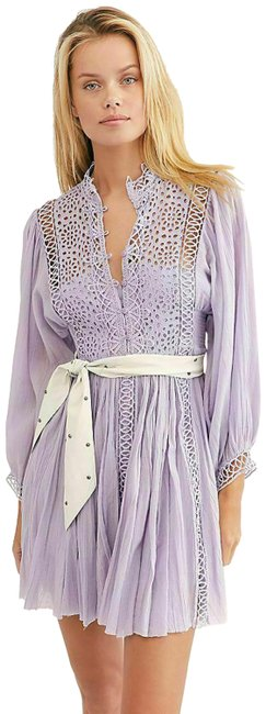 Preload https://img-static.tradesy.com/item/27886116/free-people-lavender-fp-one-karma-eyelet-mini-crochet-lace-boho-s-short-casual-dress-size-6-s-0-2-650-650.jpg