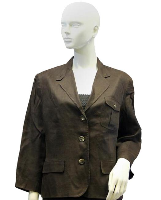 Preload https://img-static.tradesy.com/item/27886164/lauren-ralph-lauren-brown-70-s-linen-sku-000020-blazer-size-16-xl-plus-0x-0-0-650-650.jpg