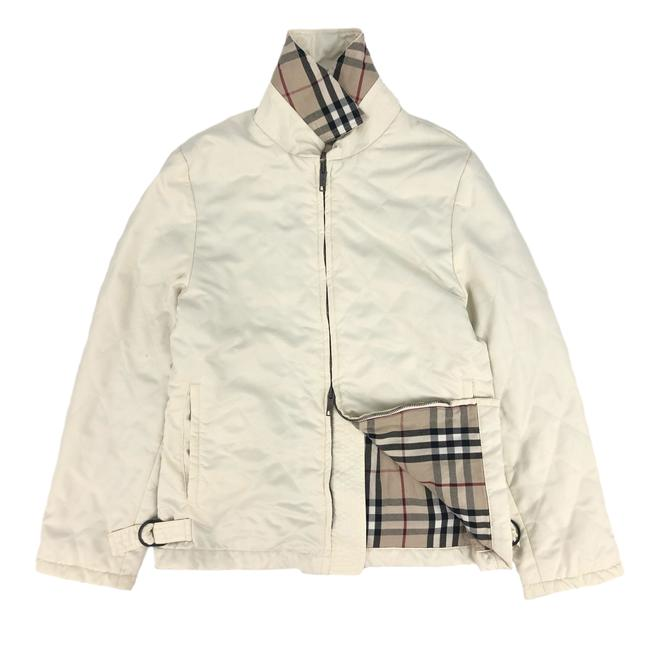 Item - Beige W Womens Polyester Quilted Nova Check Jacket Size 6 (S)
