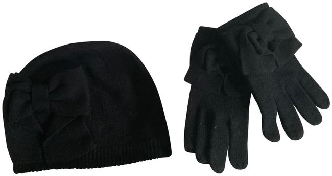 Kate Spade Black Box Dorothy Bow Glove and Beanie Set Hat Kate Spade Black Box Dorothy Bow Glove and Beanie Set Hat Image 1