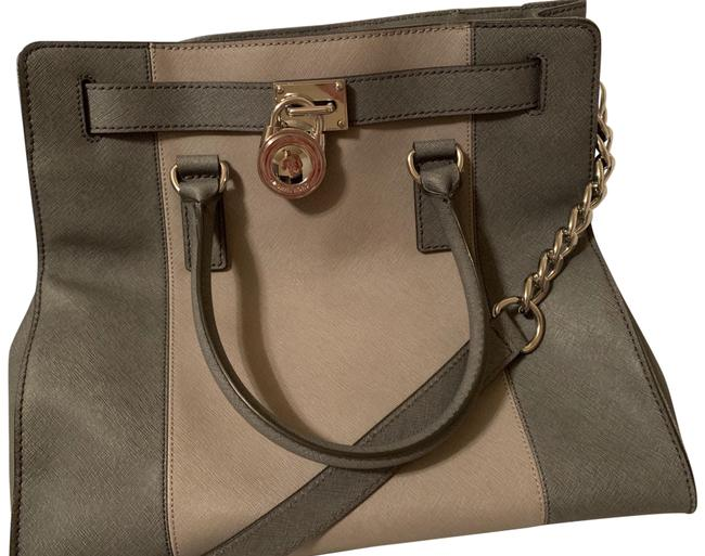 Michael Kors Hamilton Two Toned Leather Tote Michael Kors Hamilton Two Toned Leather Tote Image 1