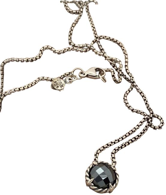 David Yurman Black Hematite Chatelaine Sterling Silver Necklace David Yurman Black Hematite Chatelaine Sterling Silver Necklace Image 1