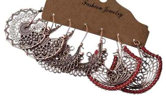 Preload https://img-static.tradesy.com/item/27886404/unbranded-vintage-antique-bronze-floral-mandala-hollow-out-gypsy-ethnic-tribal-dangle-drop-set-earri-0-2-540-540.jpg