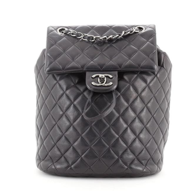 Chanel Urban Spirit Quilted Lambskin Small Blue Leather Backpack Chanel Urban Spirit Quilted Lambskin Small Blue Leather Backpack Image 1