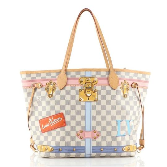 Preload https://img-static.tradesy.com/item/27886485/louis-vuitton-neverfull-nm-limited-edition-damier-summer-trunks-mm-white-coated-canvas-tote-0-0-540-540.jpg