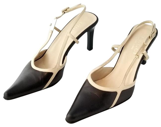 Item - Black Kitten Heel Spectator and Cream Pumps Size US 6 Regular (M, B)