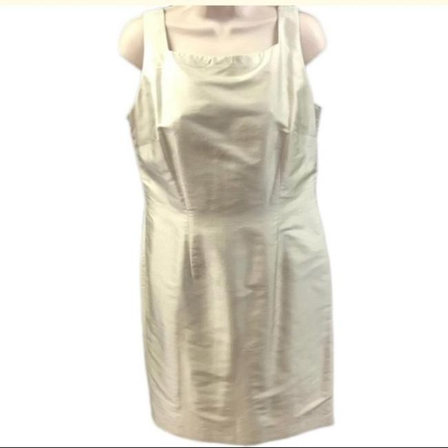 Item - Cream Mother Of The Bride Traditional Bridesmaid/Mob Dress Size 10 (M)