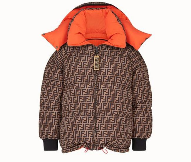 Item - Brown Puffer Jacket Signature Zucca Pm2308 Coat Size 4 (S)