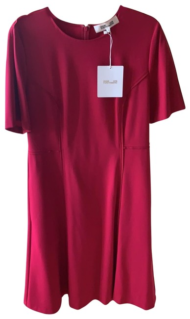 Item - Red Alexandra Magen Long Work/Office Dress Size 12 (L)