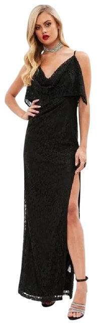 Item - Black With Lace Overlay Long Casual Maxi Dress Size 2 (XS)