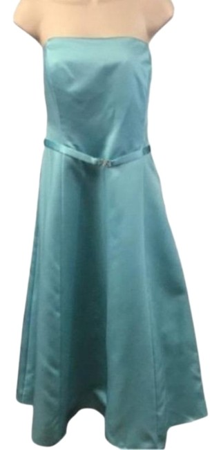 Michaelangelo Blue 8355 Mid-length Formal Dress Size 16 (XL, Plus 0x) Michaelangelo Blue 8355 Mid-length Formal Dress Size 16 (XL, Plus 0x) Image 1