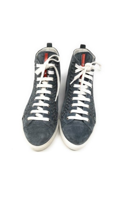 Prada Blue Suede Sneakers Size EU 37.5 (Approx. US 7.5) Regular (M, B) Prada Blue Suede Sneakers Size EU 37.5 (Approx. US 7.5) Regular (M, B) Image 1