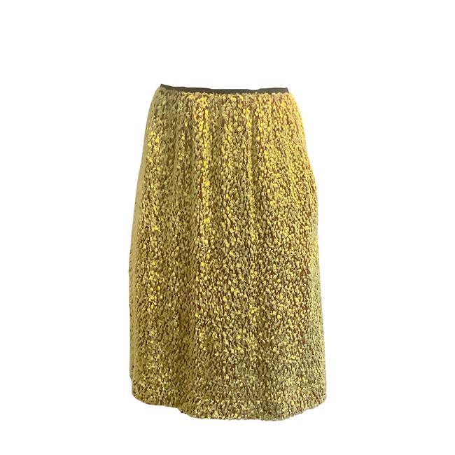 Item - Lime & Brown Fuzzy Skirt Size 4 (S, 27)