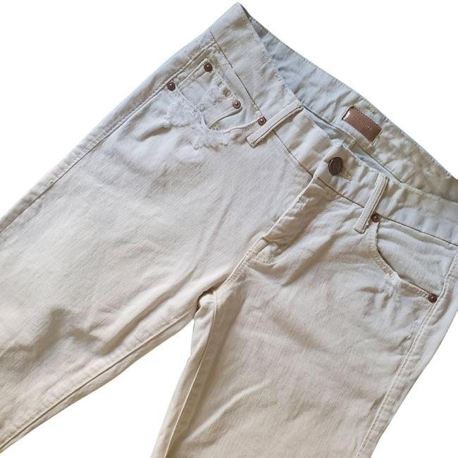 Item - Cream White Distressed The Looker/ For A Day Skinny Jeans Size 25 (2, XS)