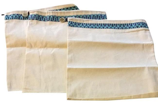 Item - Set Of 3 Ivory Linen Natural Dustbag Cover with Logo Enblem