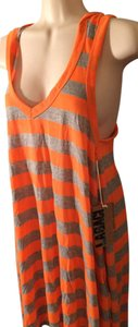 Legaci short dress Orange and gray on Tradesy
