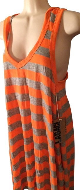 Preload https://item4.tradesy.com/images/orange-and-gray-blouse-above-knee-short-casual-dress-size-12-l-2789008-0-0.jpg?width=400&height=650