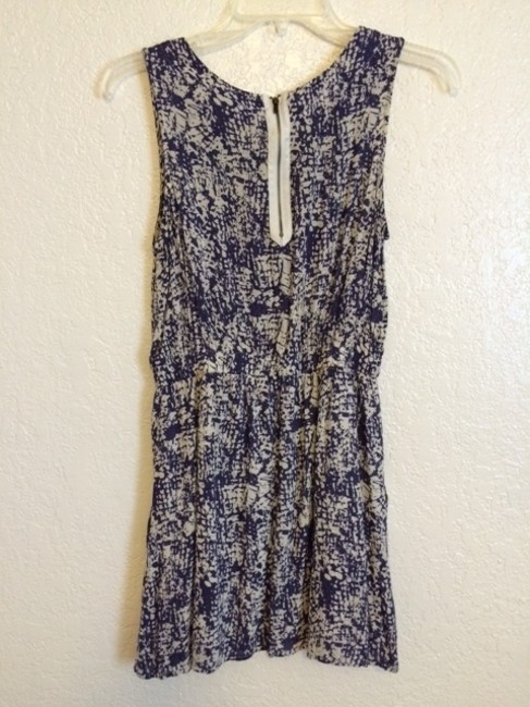 Forever 21 short dress White and blue on Tradesy