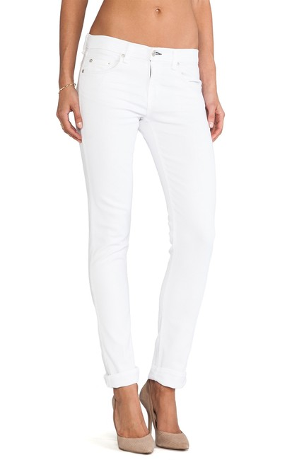 Item - White The Dre In Aged Bright Skinny Jeans Size 27 (4, S)