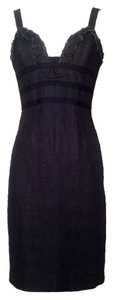 Oscar de la Renta short dress Denim on Tradesy