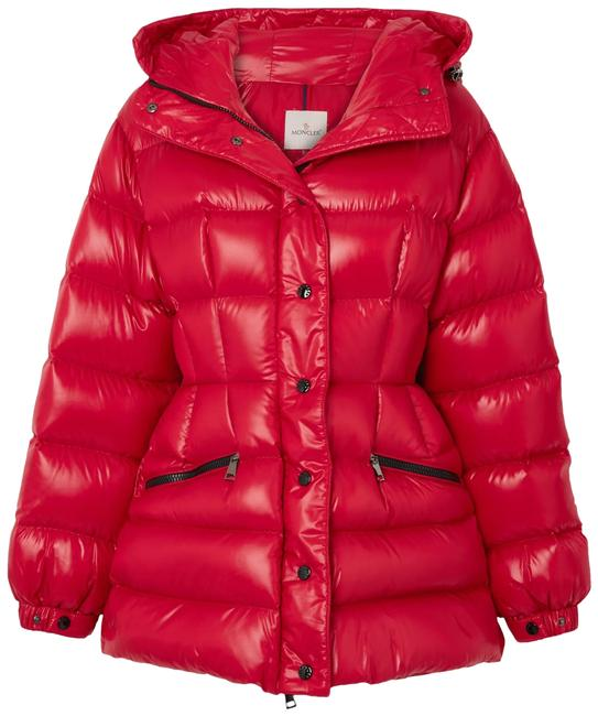 Item - Red Hooded Quilted Shell Down Jacket Coat Size 16 (XL, Plus 0x)