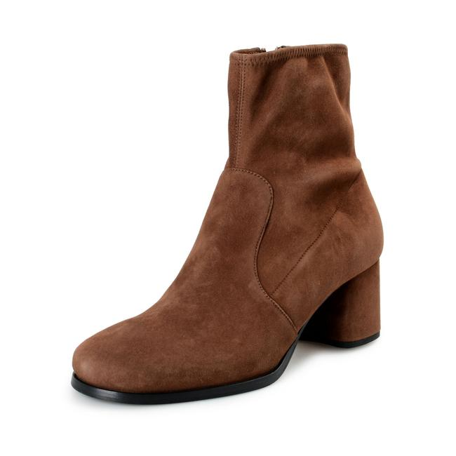 Item - Brown Women's Suede Leather Heeled Boots/Booties Size US 9.5 Regular (M, B)