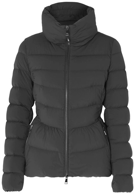 Item - Black Quilted Shell Down Jacket Coat Size 4 (S)