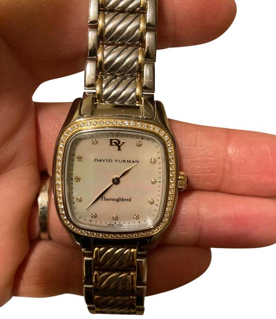 Item - Silver and Gold Two Tone Turnabout Thoroughbred Watch