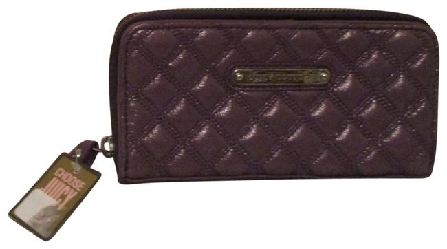 Item - Purple Quilted Leather Shimmer Zip Wallet