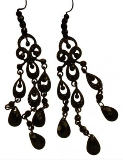 MStyle Lab Black Chandelier Earrings