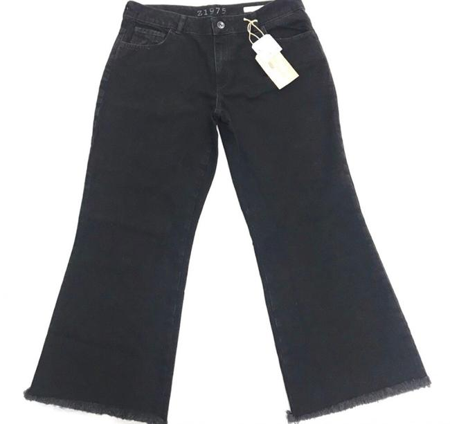Item - Black Dark Rinse Frayed Hem Capri/Cropped Jeans Size 10 (M, 31)