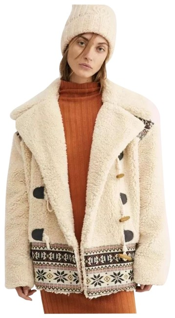 Item - Ivory Oh My Teddy Sherpa Toggle Double Breasted Pile Coat Size 4 (S)