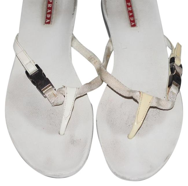 Item - White Womens Flip Flop Sandals Mules/Slides Size US 8 Regular (M, B)