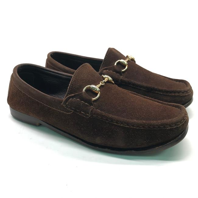 Gucci Brown Horsebit Mens Suede Loafers / Flats Size US 7.5 Regular (M, B) Gucci Brown Horsebit Mens Suede Loafers / Flats Size US 7.5 Regular (M, B) Image 1
