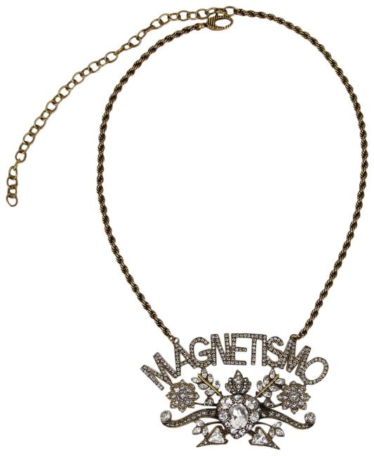 """Item - Gold Crystal """"Magnetismo"""" Pendant and Rope Chain 525212 8062 Necklace"""