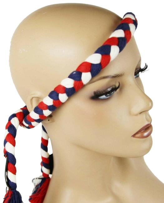 Item - Red/White/Blue Red/White/Blue Cotton Braided Thread Headband 528887 9888 Hair Accessory