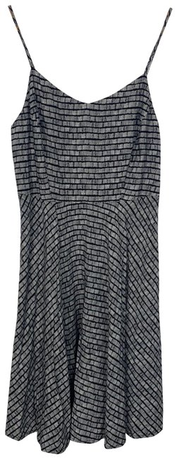 Item - Black And White Patterned Short Cocktail Dress Size 6 (S)