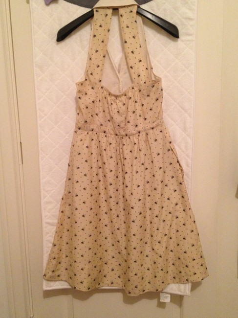 Anthropologie short dress Beige Bee Print Summer Retro 50's Inspired Charming Party Halter Sexy on Tradesy