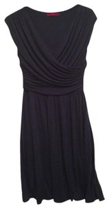 Anthropologie short dress Navy T-shirt Jersey Knit Wrap on Tradesy