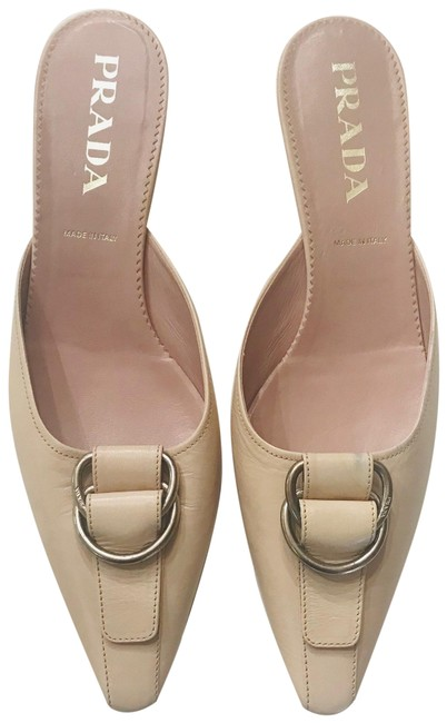 Item - Nude Leather Mules/Slides Size EU 40 (Approx. US 10) Regular (M, B)