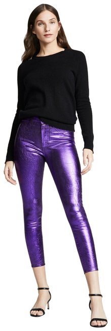 Item - Metallic Purple Coated (Nwt) Margot High Rise In Skinny Jeans Size 28 (4, S)