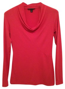 Banana Republic Long Sleeve Cowl Knit Pink Soft Comfortable T Shirt Hibiscus