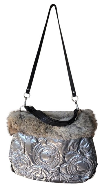Item - XL Limited-edition Signature C Ski Silver Fox Fur Hobo Bag