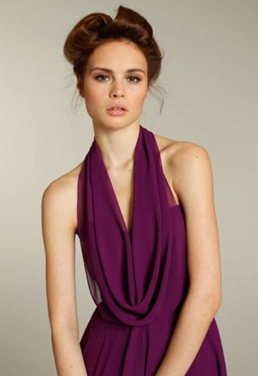 Jim Hjelm Occasions Violet Jh5159 Modern Bridesmaid/Mob Dress Size 6 (S)