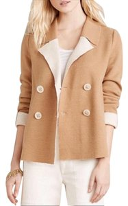Anthropologie Wool Nylon Monogram Pea Coat