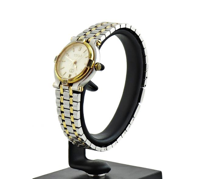 Gucci Gold Silver Vintage 9000l Two-tone Face Ladies Watch Gucci Gold Silver Vintage 9000l Two-tone Face Ladies Watch Image 1