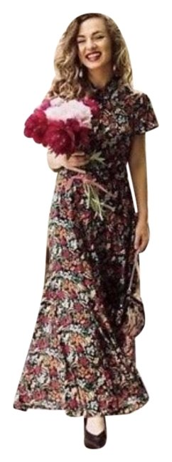 Zara Multicolor New Floral Printed Shirt Long Casual Maxi Dress Size 0 (XS) Zara Multicolor New Floral Printed Shirt Long Casual Maxi Dress Size 0 (XS) Image 1