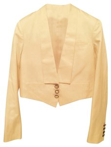 Stella McCartney 50% Silk-50% Cotton Cream Blazer