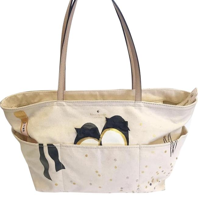 Item - Just Married Beige Canvas Tote